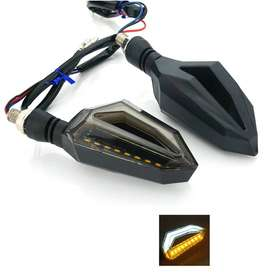 Universal Motorcycle bike DRL INDICATOR WITH FLOW LIGHT