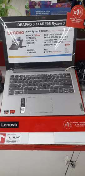 Lenovo R3 OHS IP 3 14ARE05, cicilan tanpa CC