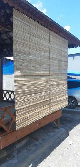 Dekor teras,tirai bambu tirai kayu,tirai rotan