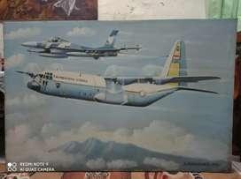 Lukisan Pesawat TNI Angkatan Udara Karya Komarjaya Tahun 2002