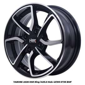 READY STOK YABORE A026 HSR RING 14X55 H4x100 ET38 BMF