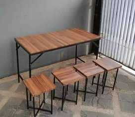 Meja angkringan meja kedai kopi meja cafe meja lipat meja makanb