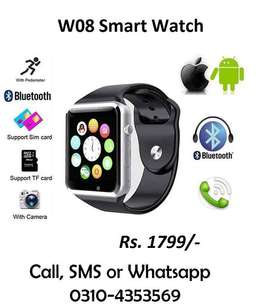 W08 Smart Watch Bluetooth gsm Sim memory card slot support android IOS