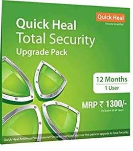 QUICK HEAL antivirus  1 year validity