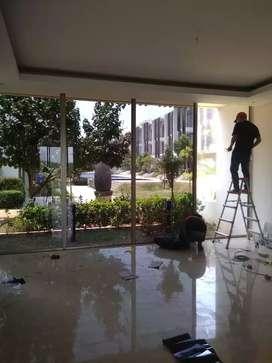 Pemasangan Sandblast dan kaca film buat gedung, kantor, rumah dll