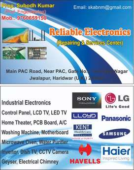 Electronics and electrical goods Repair services