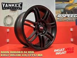 Velg Mobil Avanza, Velg Vios dll HSR R16 BOON Black
