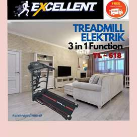 treadmill elektrik TL-618 G-35 alat olahraga lari