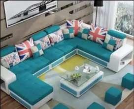 U shape sofa set Emi available Asif Furniture factory unit brand new