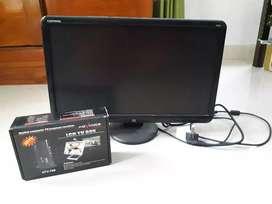 Monitor lcd compaq 21 in dan tv tuner advance