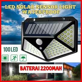 Lampu Taman Tenaga Surya 100LED Sensor Light LED Solar Tembok