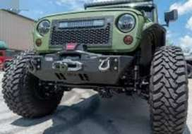 Army modified green jeep