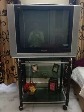 Panasonic TV with Panasonic Woofer System and trolly
