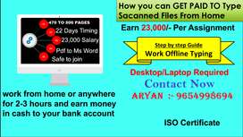 DATA ENTRY WORK WORK FROM HOME