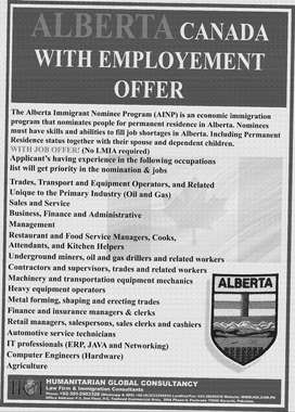 Alberta PNP with Job Offer