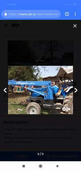 Tractor Hydra for rent