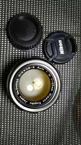 lensa nikon nikkor 50mm f 1.4 jadul vintage antik lawas kuno rare