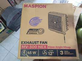 kipas angin hisap exhaust fan dinding maspion mv 300nex 12 inc -in/out