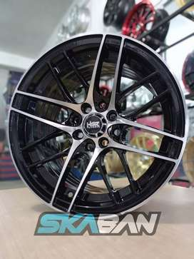 jual hsr wheel ring 15x7/8 h8(114,3/100) black polish di ska ban