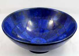 "343g Lapis lazuli bowl 5"" Inch wide hand made bowl from Afghanistan"