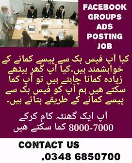 We need worker for company and online working
