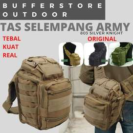 Tas Salempang Army Tactical Import - Motif Loreng Hijau Army