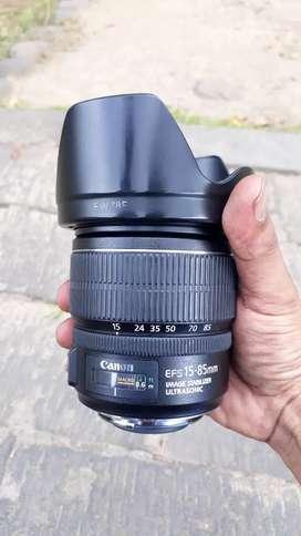 Lensa canon EF-S 15-85 IS usm