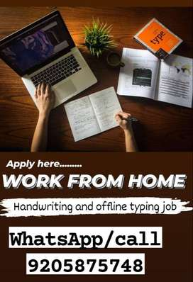 BE SAFE! PART TIME JOB / HANDWRITING JOB AND TYPING JOB