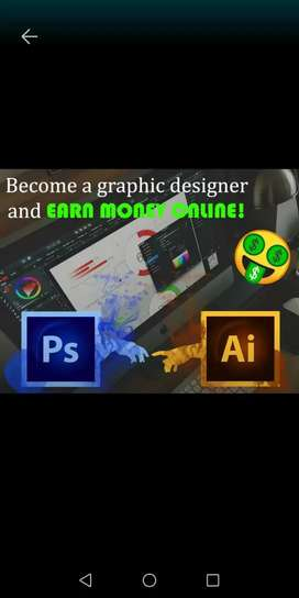 Online graphic design course and freelancing