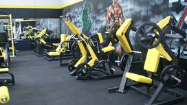 commercial gym setup with
