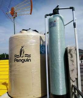Filter air sumur solusi air kotor keruh bau pada Tandon