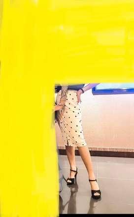 Rok motif polkadot, skirt ,preloved brand GAUDI