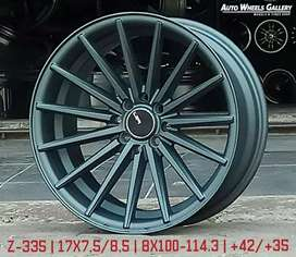 "Velg Mobil RH WHEELS Z335 17"" 4X100 4X114.3 BY JF LUXURY"