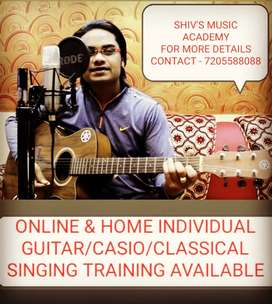 Online/Offline Guitar, Casio, Hindustani Classical Singing Training