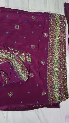 Designer saree sale purple