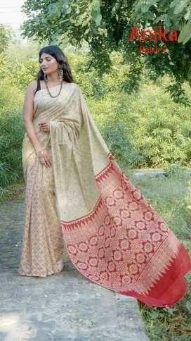 Jaipur Mulmul cotton sarees