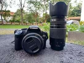 Canon 500d + Lensa Fix + lensa tele
