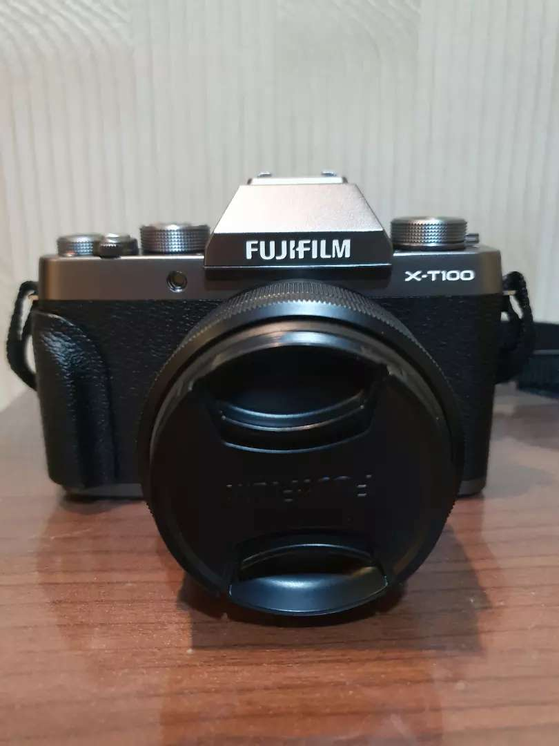 Fujifilm Mirrorless X-T100 Kit XC 15-45mm Dark Silver 0