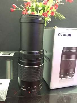 Canon EF 75-300mm 1: 4-5.6 III zoom lens with box