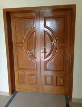 Solid Wooden Doors  (ibrar wood)