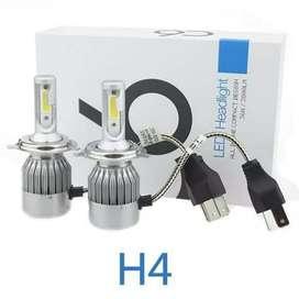 Headlamp LED C6 H4 COB 2pcs white
