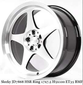 type velg hsr SLEEKY JD7868 HSR R17X75 H5X100 ET35 GBMF