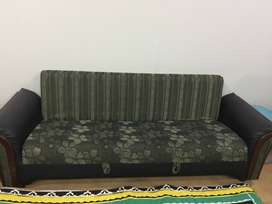 Pair of green sofa cum beds for sale in lahore. Hardly used.