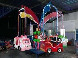 Pabrik odong goyang mandi bola gerobak mini coaster RAA
