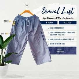 Celana Muslim Sirwal List Syari (Longgar Nyaman)