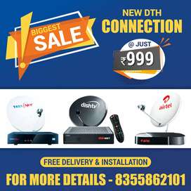 New DTH Connection High Definition Set top box with installation free.