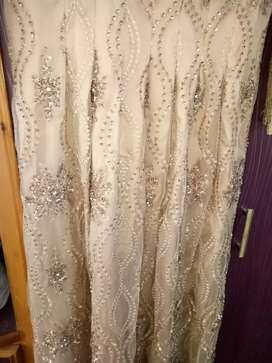 Wedding maxies with net dupatta and narrow trouser