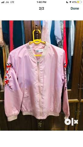 Rs 349 Baby Pink Bomber jacket Size s-m