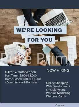 Pure prime company is offering job with a different parameter.