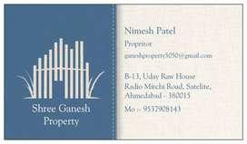 Flat For Rent 3 BHK Semi Furnished Nr Prahlad Nagar